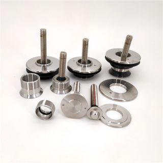 精密加工建筑装配锻造不锈钢玻璃胶配件